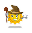witch cute sun character cartoon vector image