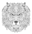 Wolf lineart vector image vector image