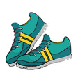 isolated running shoes design vector image