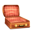Open Suitcase vector image