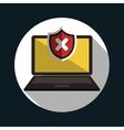 laptop error warning design vector image