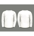 Mens white sweatshirt long sleeve vector image