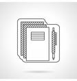School supplies flat line icon vector image
