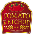tomato ketchup label
