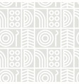 abstract line art seamless pattern vector image vector image