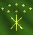 Adygea flag vector image vector image