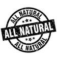 all natural round grunge black stamp