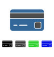 bank card flat icon vector image vector image