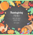 banner poster flyer with thanksgiving symbols vector image vector image