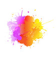 banner with colorful blobs and paint vector image vector image