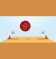 basketball field and ball vector image vector image