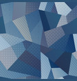 blue color fabric seamless pattern vector image