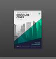 brochure cover design template for finance vector image