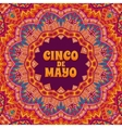 Cinco de mayo banner ornamental vector image