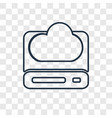cloud storage concept linear icon isolated on vector image