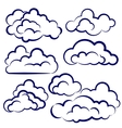 clouds collection sketch cartoon vector image vector image
