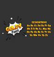 comic book pop art super hero font vector image
