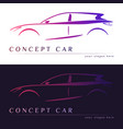 concept car silhouette vector image vector image