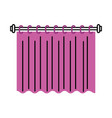 curtain clean interior element decoration for vector image