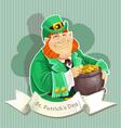 Cute big fat Leprechauns guard the pot of gold vector image vector image