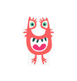 cute colorful cartoon monster fabulous incredible vector image vector image