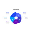 cycle diagram with five options or steps slide vector image