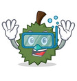 diving durian character cartoon style vector image