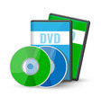 dvd digital video discs cases for storage vector image vector image