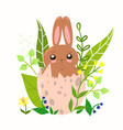 easter bunny in egg graphics vector image