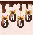 easter egg sale white text happy easter hanging vector image vector image