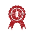 First place red grunge icon vector image vector image