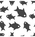 fish seamless pattern background icon business vector image