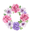 flower frame in watercolor style isolated on white vector image vector image