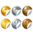Games medals or labels-set3 vector image vector image