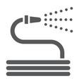 garden hose glyph icon farming and agriculture vector image vector image