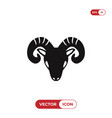 goat head icon vector image vector image