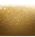 golden christmas banner with snow vector image