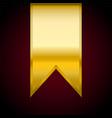 golden ribbon flag banner for vector image