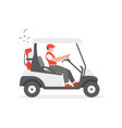 golf cart vector image vector image