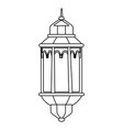 hanging lamp icon black and white vector image
