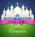 Happy Ramadan Islamic Greeting Background vector image vector image