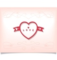 Heart with arrow and pattern vector image vector image