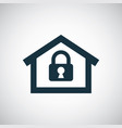 home lock icon for web and ui on white background vector image