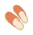 image of house slippers vector image vector image