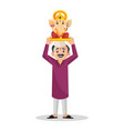 indian marathi man cartoon vector image