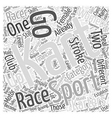 Karting A Female Sport Too Word Cloud Concept vector image vector image