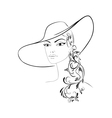Lady in hat vector image vector image