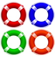 life buoy collection vector image vector image