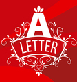 Logo letter A with plants on a red background vector image vector image