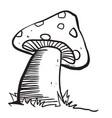 mushroom black vector image vector image